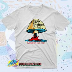 The Allman Brothers Summer Tour T Shirt Style to wear every day in any situation to be always fashionable. With this T-shirt design will make you more retro-style. 90s Shirts, Tour T Shirts, Allman Brothers, Contemporary Fashion, Streetwear Fashion, Retro Fashion, Shirt Style, Shirt Designs, Tees