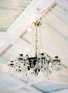 Crystal chandelier wedding lights home decor vintage candles. Wouldn't this be pretty if you could hang it in the middle of the dance hall!