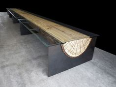 From Boston, table idea with wood Liquid Art House