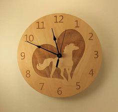 Horse laser cut clock Animal clock Wood clock Wall clock