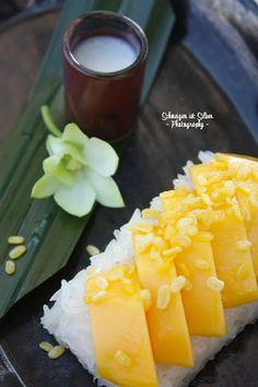 Thai Sticky Rice with Coconut Cream and Mango.