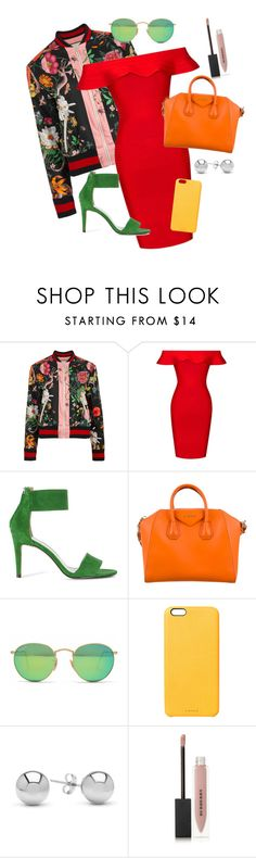 """""""Untitled #142"""" by worthen-ava on Polyvore featuring Gucci, Posh Girl, Givenchy, Ray-Ban, Chaos, Jewelonfire and Burberry"""