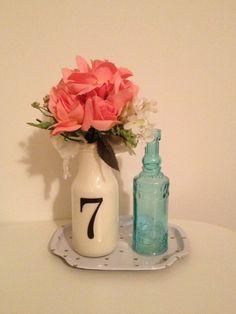 Use those cute Starbucks bottles to make vintage-inspired vases for spring.
