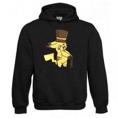 "Kapuzen Sweatshirt ""Herr Pikachu"" Fruit of the Loom, Beuteltasche, 80% Baumwolle"