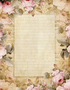 The Fairest Blossom ~ roses from an 1836 painting and french sheet music... printable stationery
