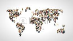 Group of people making a earth planet shape Stock Vector
