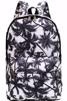 Palm Tree Canvas Backpack