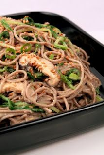 Hungry Cravings: Soba with Mizuna, Shiitakes & Sesame-Miso Dressing