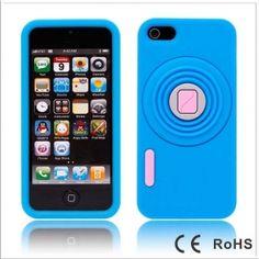 $4.51 iphone 5 5G 3D Camera Designed Blue Soft Silicone Case Cover phone accessories  esaledeal.com
