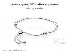 2018 Spring - Sliding Bracelet - Release Date: Pandora Bracelet Pink, Pandora Open Bangle, Pandora Jewelry, Mora Pandora, Pandora Collection, Aqua Color, Bangles, Bracelets, Bracelet Designs
