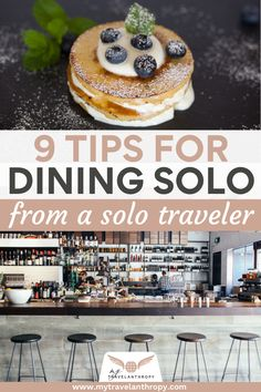 Click here to get 9 tips for eating out alone as a solo female traveler. If the idea of eating at a restaurant solo worries you, use these solo female travel tips to feel more comfortable eating in a restaurant alone. #solofemaletravel #eatingout #travel #traveltips #solofemaletraveltips #travelanthropy #mytravelanthropy Solo Travel Tips, Travel Advice, Travel Guides, Cheap Flight Deals, Best Travel Credit Cards, Eating Alone, Travel Alone, Packing Tips, Travel Abroad