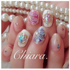 春夏design ♡Instagram → yochan4.nail ネイルデザインを探すならネイル数No.1のネイルブック