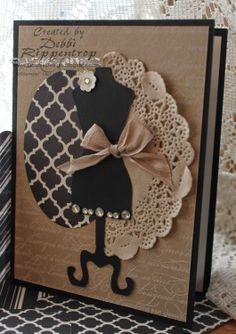 Debbi's Design Stamping: Vintage Dress Stand
