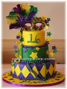 done for a Sweet 16 mardi Gras theme party. The place looked great with all the Mardi Gras decorations. TFL done for a Sweet 16 mardi Gras theme party. The place looked great with all the Mardi Gras decorations. Sweet 16 Birthday, Birthday Parties, Birthday Cake, Birthday Ideas, 16th Birthday, Happy Birthday, Paris Birthday, Masquerade Cakes, Masquerade Ball