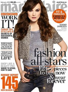 Keira  covering the February 2013 issue of Marie Claire Australia magazine - keira-knightley Photo