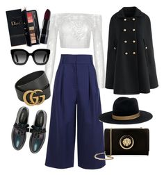 💜 by casa-blanca77 on Polyvore featuring polyvore, fashion, style, Chicwish, TIBI, Max&Co., Versus, Gucci, Janessa Leone, Estée Lauder and clothing
