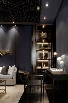 ♂ Masculine & contemporary interior design The Residences of Pier 27, Toronto. Interior design by Munge Leung.