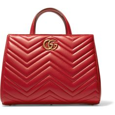Gucci GG Marmont quilted leather tote (33.801.600 VND) ❤ liked on Polyvore featuring bags, handbags, tote bags, gucci, red, quilted leather purse, tote handbags, tote purses and handbags totes