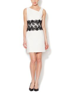 Sophie Asymmetrical Lace Panel Dress by 4.collective at Gilt