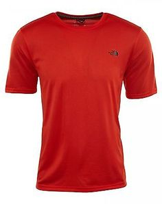 North Face Short Sleeve Reaxion Amp Crew Tee Mens A9HS-WU5 Red T-Shirt Size M