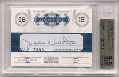 JOHNNY UNITAS 2011 National Treasures Souvenir Cuts CUTO AUTO /40 BGS 9.5 COLTS