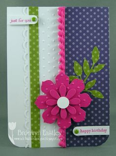 Hi.  Thanks for visiting my blog.  I made another card today from my 'To Do List' using the colours from the latest challenge at Inkspiratio...