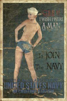 Riff of an old U.S. Navy recruitment poster from the 40's
