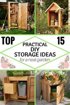 Top 15 Practical DIY Storage Ideas For A Neat Garden