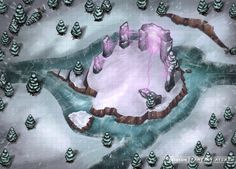 Conifer forest Frozen river Shrine Portal Hills Wilderness battlemap grid Confluence at the Henge med Dungeons And Dragons Homebrew, D&d Dungeons And Dragons, Pathfinder Maps, Rpg Map, Dungeon Maps, Fantasy Map, Tabletop Rpg, Fantasy Landscape, Environmental Art