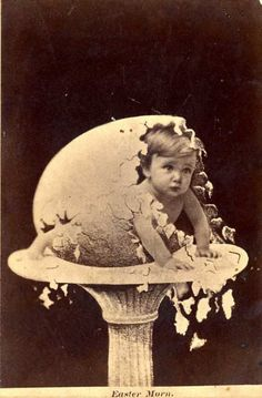 ca. 1900 - Egg Hatching...  So that's where babies come from!!