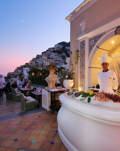 Champagne & Oyster Bar   Le Sirenuse  with breathtaking views over Positano.. definitely on my list!