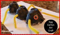 Preschool Ant Craft #preschool #kidscrafts www.ducksnarow.com