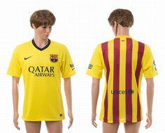2015-2016 Barcelona away AAA+ yellow thai version soccer jerseys