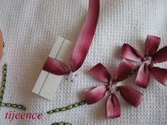 Ribbon Embroidery - Kurdela Nakışı - Hobilerim: İlmik yaprak tekniği ile çiçek yapılışı