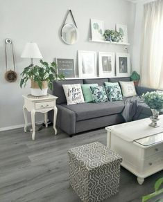 24 delicate living room design ideas on minimalist homes 01 Mint Living Rooms, Living Room Turquoise, Living Room Green, New Living Room, Living Room Interior, Living Room Decor, Grey Couches Living Room, Small Living, Grey Living Room With Color