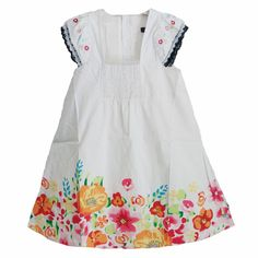 2017 new summer girl dress flower embroidery white little girls dresses fashion brand kids baby girls clothes dress kids clothes