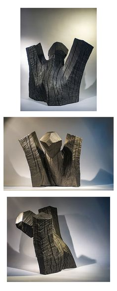 Hold up , repertoire n° by Philippe Chesneau, squared and burnt wood, dim. H 39 x L 46 x P 36 cm Burnt Wood, French Sculptor, Hold Ups, Wood Burning, Woodburning, Thigh Highs, Firewood