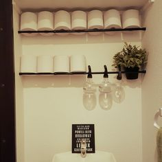 IKEAフェイクグリーン/ソフト男前/つっぱり棒/セリア/バス/トイレのインテリア実例 - 2016-02-06 00:31:24 | RoomClip(ルームクリップ)