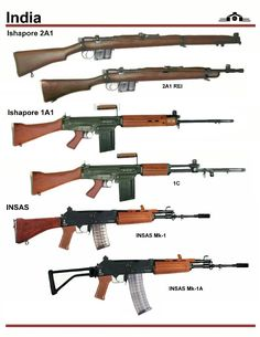 In this image, you may find India Rifles Types in it. Weapons Guns, Guns And Ammo, Weapon Concept Art, Military Pictures, Fire Powers, Assault Rifle, Military Weapons, Airsoft, Shotgun