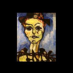 Paul Augustin Aizpiri (1919 – ) Oil Painting The Harlequin