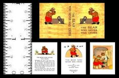 1:12 MINIATURE BOOK THE BEAR WHO NEVER WAS CROSS