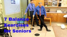 "7 Balance Exercises for Seniors-Fall Prevention by Physical Therapists ""Famous"" Physical Therapists Bob Schrupp and Brad Heineck demonstrate 7 exercises to help seniors improve their balance and decrease the likelihood of falls … source Physical Therapy Exercises, Physical Therapist, Balance Exercises, Stretching Exercises, Chair Exercises, Neck Exercises, Senior Fitness, Flexibility Workout, Healthy Aging"