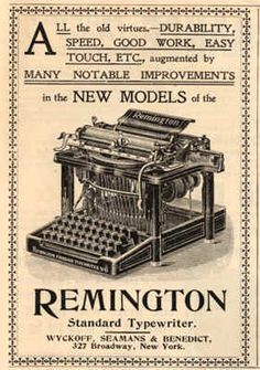 Remington typewriter - a long way from today's technology! - Can you imagine this?!  Pinned for the image only.