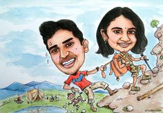 An adventurous couple. A lovely birthday gift for wife!