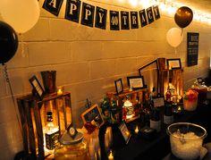 My hubs 40th surprise Jack Daniels Party