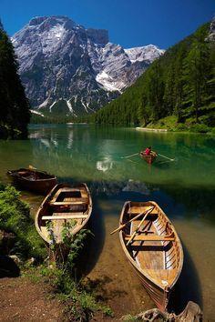 Lake Braies, Dolomites, Trentino-Alto Adige, Italy.  travel images, travel photography, travel destinations