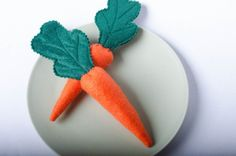 Carrots  Felt Play Food by DuchandO on Etsy