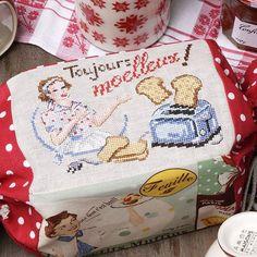 Sac brodé pour transporter le pain de mie / Bag for the toast bread
