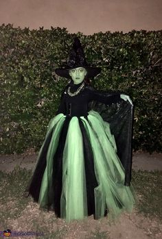 Elphaba - Wicked Witch of the West - 2018 Halloween Costume Contest Little Girl Witch Costume, Toddler Witch Costumes, Little Girl Halloween Costumes, Kids Costumes Girls, Halloween Costume Contest, Halloween Costumes For Girls, Halloween Kids, Halloween Party, Ghost Costumes