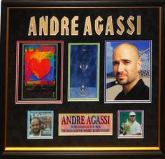 Andre Agassi Signed Glass - Antiquities LV
